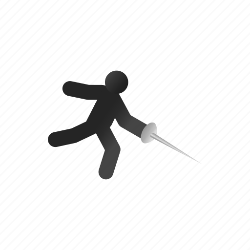 athlete, fencer, fencing, isometric, mask, sport, sword icon