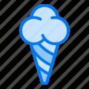 cone, cream, ice, ice cream, summer icon