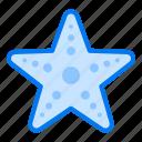beach, fish, sea, starfish, summer icon