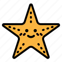 animal, aquarium, kingdom, ocean, starfish icon