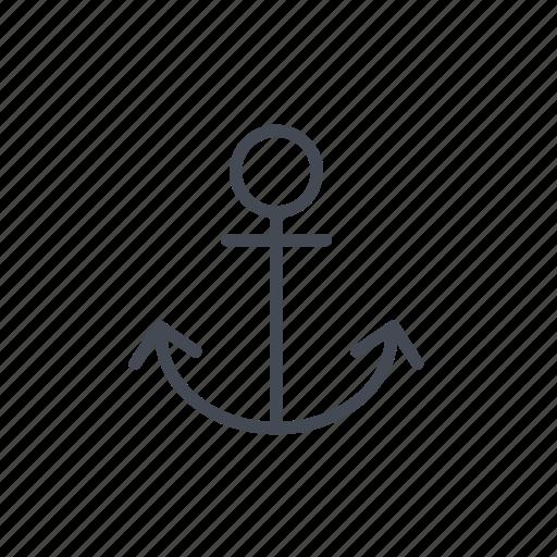 anchor, nautical, sail icon