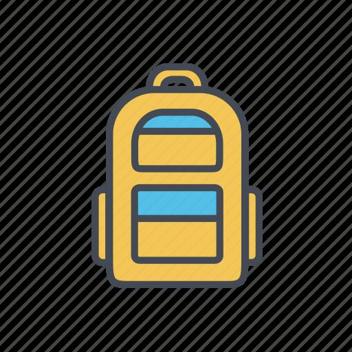 backpack, bag, rucksack, school bag icon