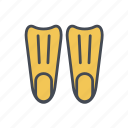 diving fin, flippers icon