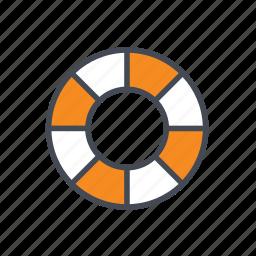 life buoy, life float ring, lifebuoy, lifesaver icon