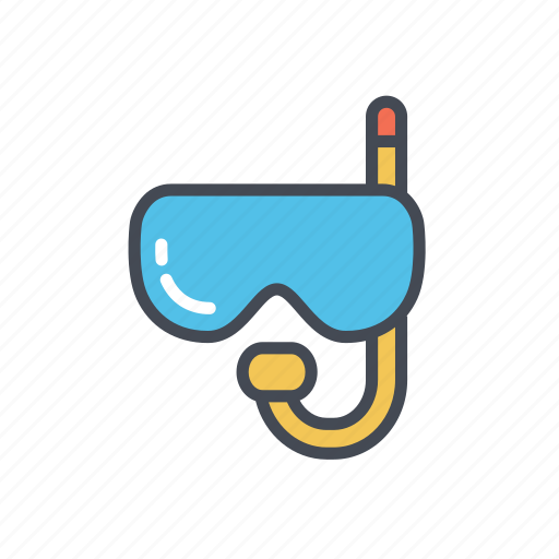 scuba diving mask, snorkeling mask icon
