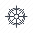 boat's wheel, ship's wheel icon