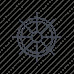 boat's wheel, ship's wheel icon