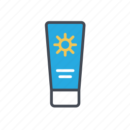 body lotion, sun protector, sunblock, sunscreen, uv protection icon