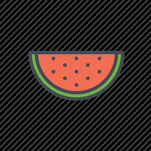 fruit, watermelon icon
