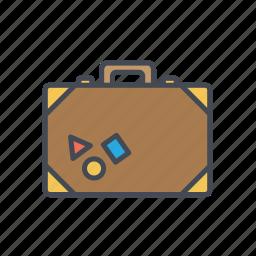 briefcase, luggage, suitcase, travel, vacation, vintage suitcase icon