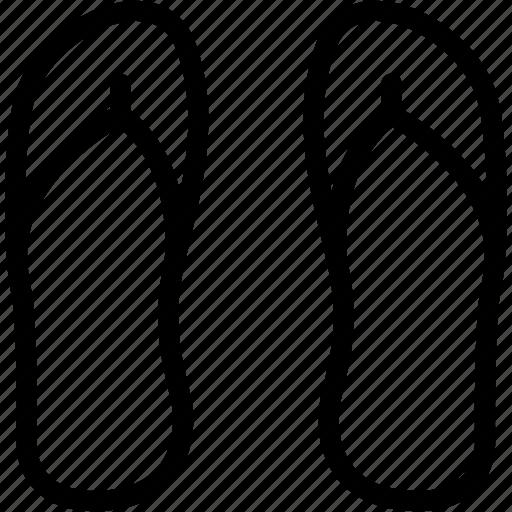 flip, flops, footwear, sandals, shoes icon