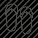 beach, fashion, flip flops, line, outline, shoe, summer