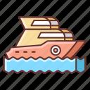boat, sea, ship, yacht