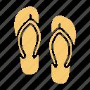 beach, sea, slipper, summer