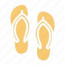 beach, sea, slipper, summer icon