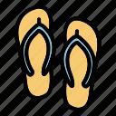 beach, sea, slipper, slippers, summer, travel, traveler icon