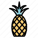 food, fruits, pineapple, summer icon