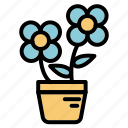 flowers, furniture, nature, summer icon