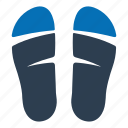 flip flops, sandals, slippers icon