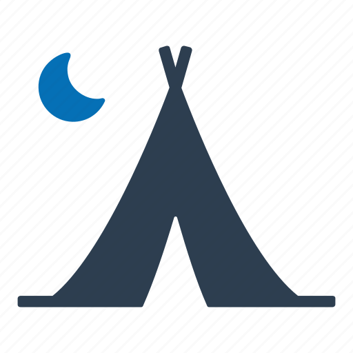 camping, outdoor, tent icon