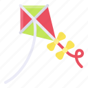 kite, recreation, summer, toy icon