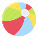 ball, beach ball, sport, summer icon