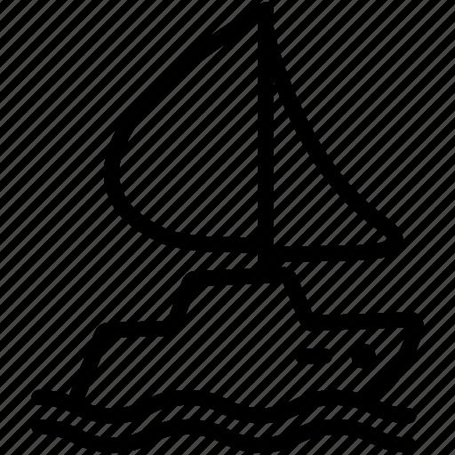 boat, cruise, ocean, sea, yacht icon