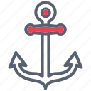 anchor, boat, nautical, ocean, ship icon