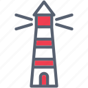 guide, lighthouse, navigation, ocean, sea icon