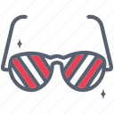 eye, glasses, summer, sunglasses, view icon