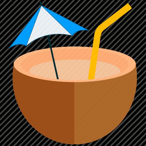 coconut, coconut water, food, fruit icon
