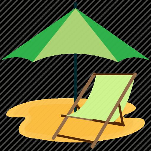 beach, chair, sea, summer, vacation icon