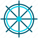 boat, ship, transport, wheel icon
