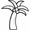 coconut, fruit, tree icon