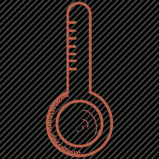 fever, temperature, thermometer icon