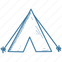 camp, tent, wigwam icon