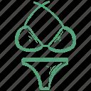 bikini, bra, pentie icon