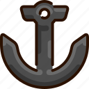 anchor, bukeicon, marine, nautical, ship, summer icon