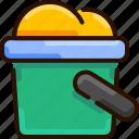 beach, bucket, bukeicon, sand, shovelt, summer