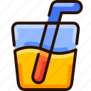 bukeicon, drink, juice, lime, orange, summer icon