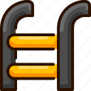 bukeicon, ladder, pool, stairs, swimming icon
