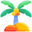 beach, bukeicon, coconut, summer, tree