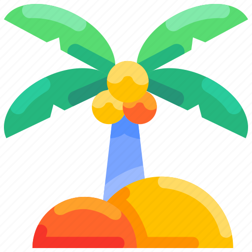 Beach, bukeicon, coconut, summer, tree icon - Download on Iconfinder