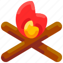 bonfire, bukeicon, burn, camp, campfire, fire, flame