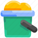 beach, bucket, bukeicon, sand, shovelt, summer