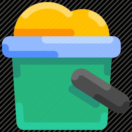 Beach, bucket, bukeicon, sand, shovelt, summer icon - Download on Iconfinder