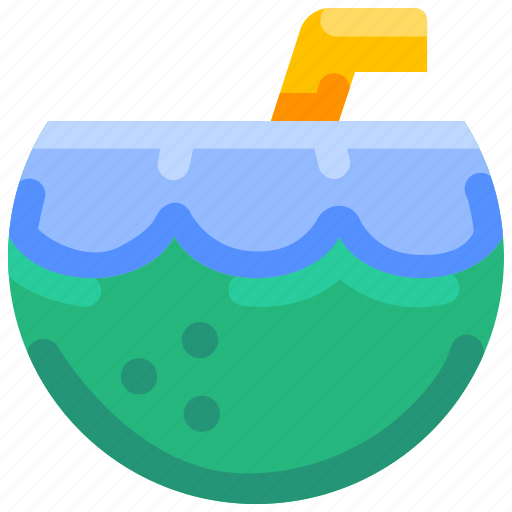 beach, bukeicon, coconut, drink, summer, water icon