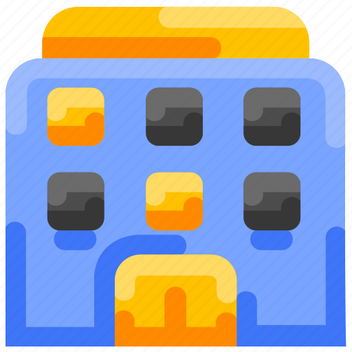 Apartmen, building, bukeicon, hotel, small, summer icon - Download on Iconfinder