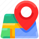 bukeicon, city, gps, location, map, navigation, summer icon