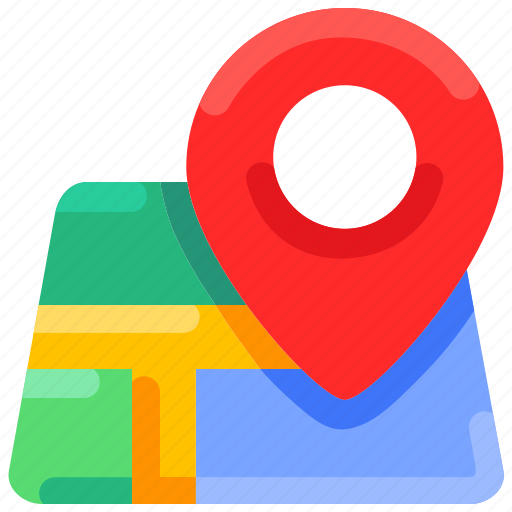 bukeicon, city, gps, location, map, navigation, summer icon